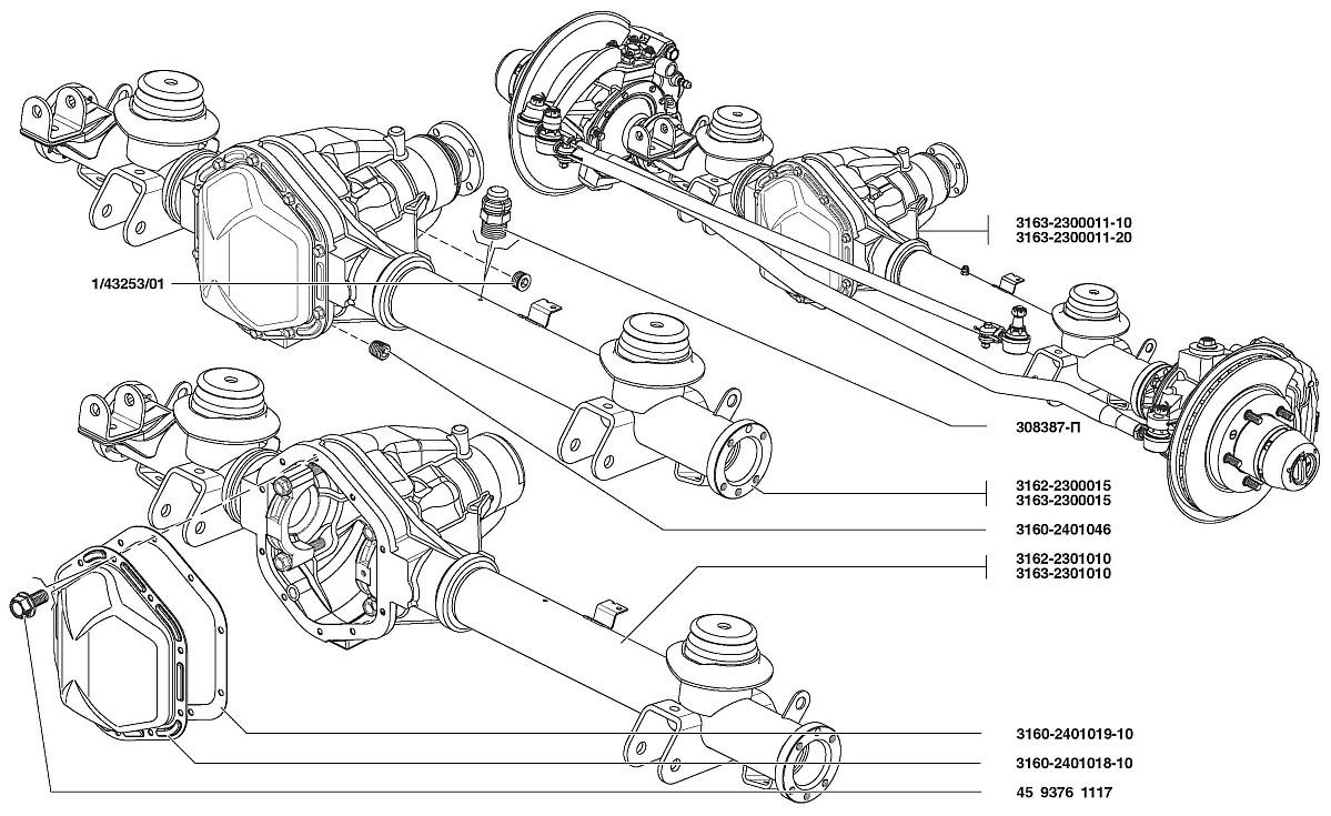 Схема редуктора моста спайсер