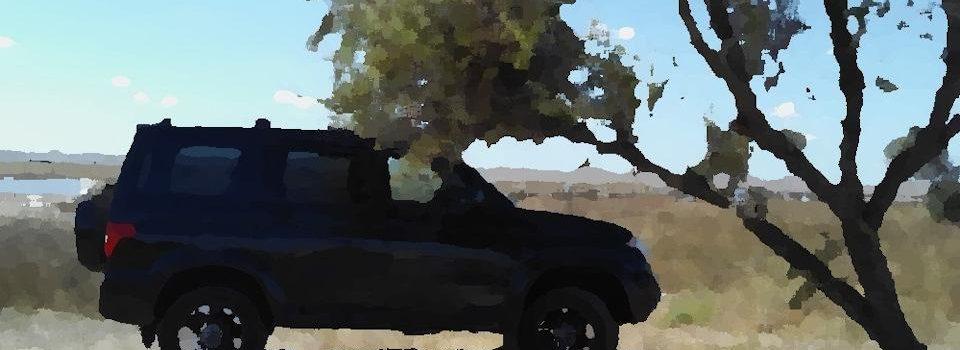 УАЗ Патриот на фоне моря