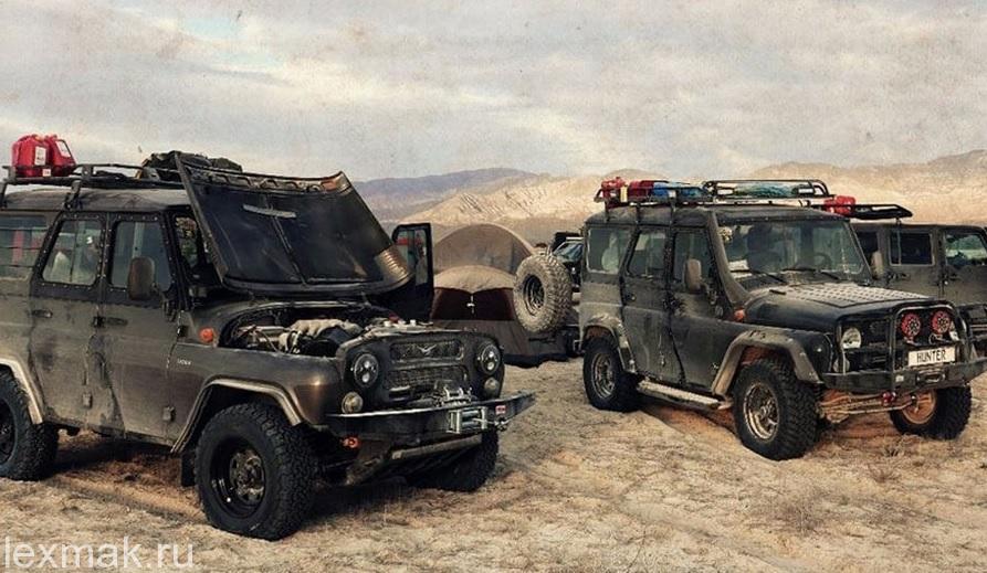 уазы в пустыне